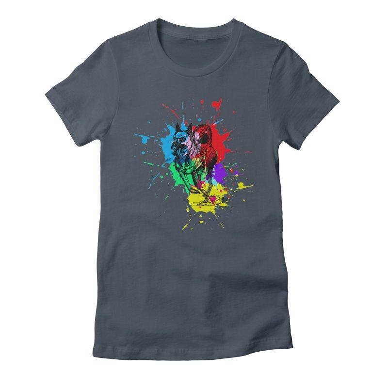 3 leg dog Women's T-Shirt by danmichaeli's Artist Shop