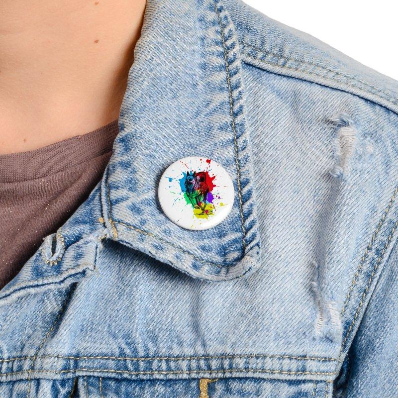 3 leg dog Accessories Button by danmichaeli's Artist Shop