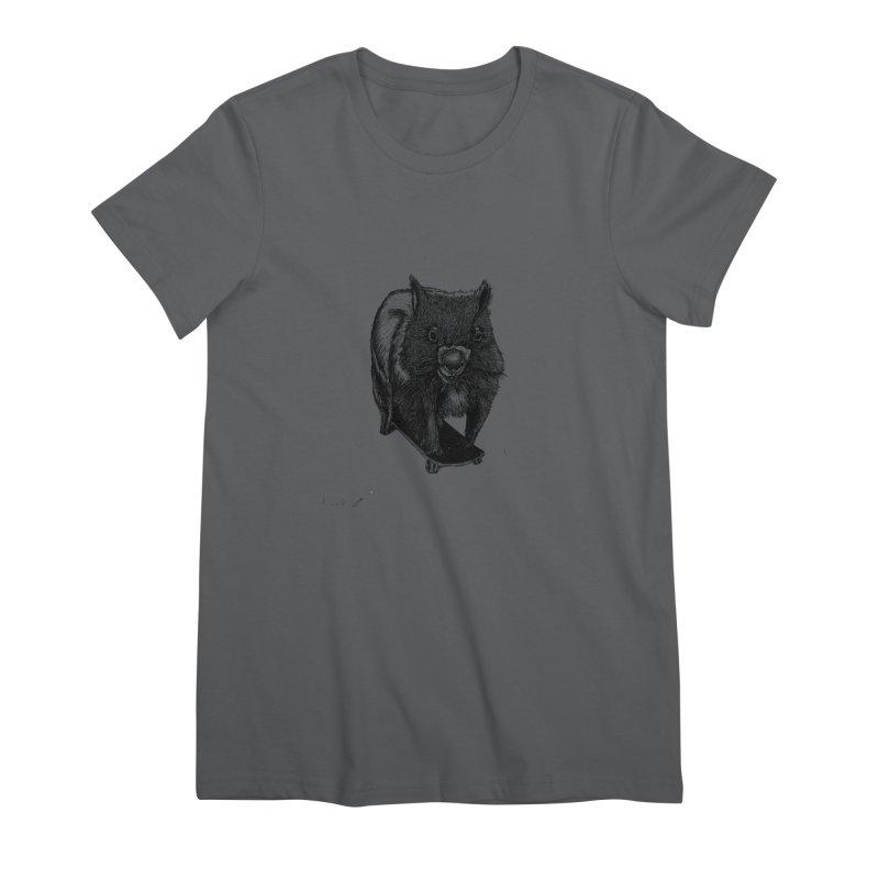 Wombat ride a skateboard Women's T-Shirt by danmichaeli's Artist Shop