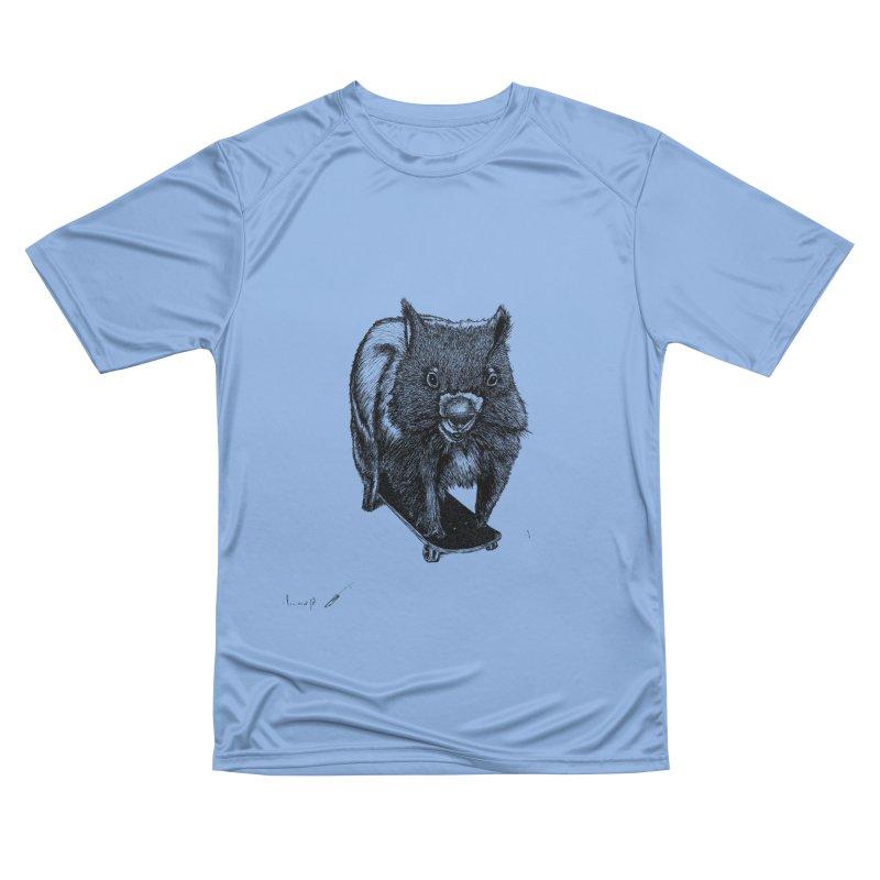 Wombat ride a skateboard Men's T-Shirt by danmichaeli's Artist Shop