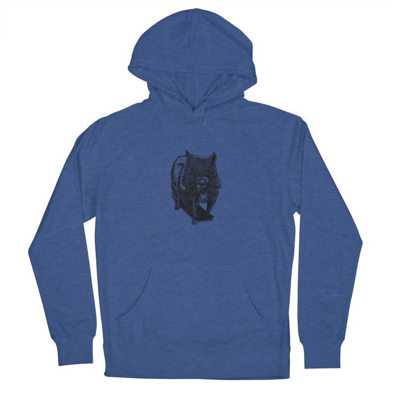 Wombat ride a skateboard Women's Pullover Hoody by danmichaeli's Artist Shop