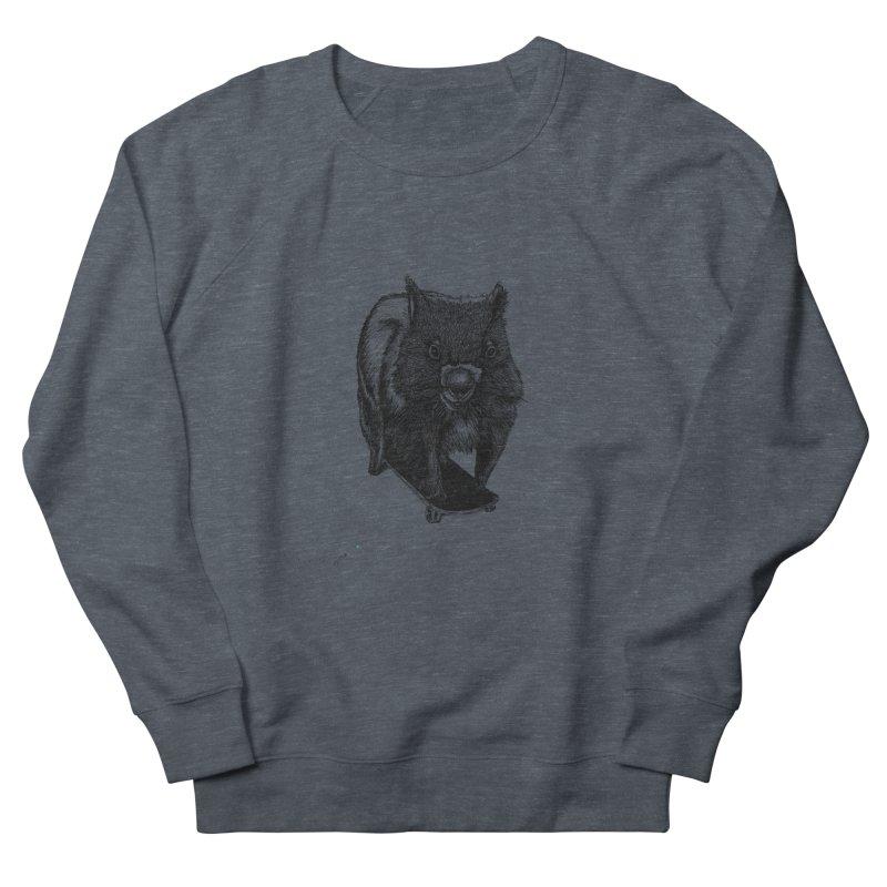 Wombat ride a skateboard Men's Sweatshirt by danmichaeli's Artist Shop