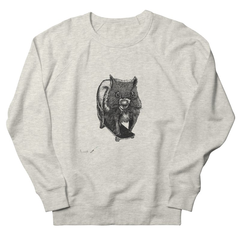 Wombat ride a skateboard Men's Sweatshirt by danmichaeli's Artist Shop