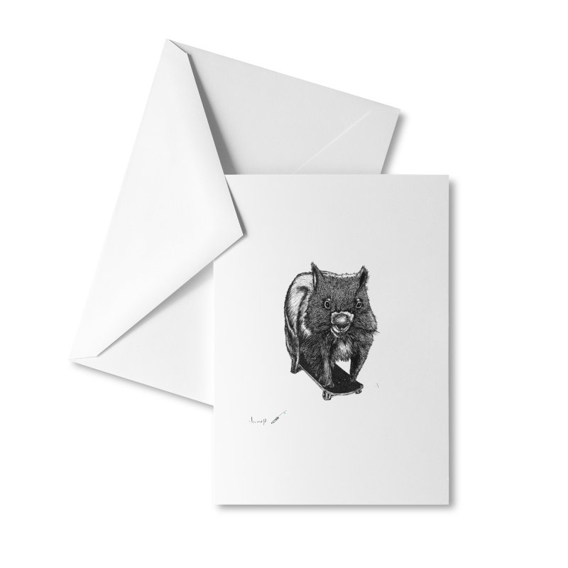 Wombat ride a skateboard Accessories Greeting Card by danmichaeli's Artist Shop