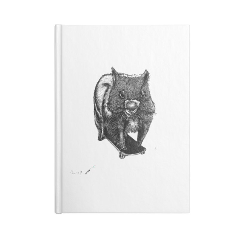 Wombat ride a skateboard Accessories Notebook by danmichaeli's Artist Shop