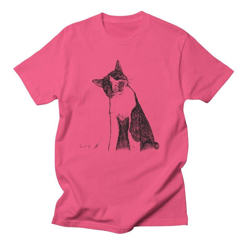 Cat Clear Men's T-Shirt by danmichaeli's Artist Shop