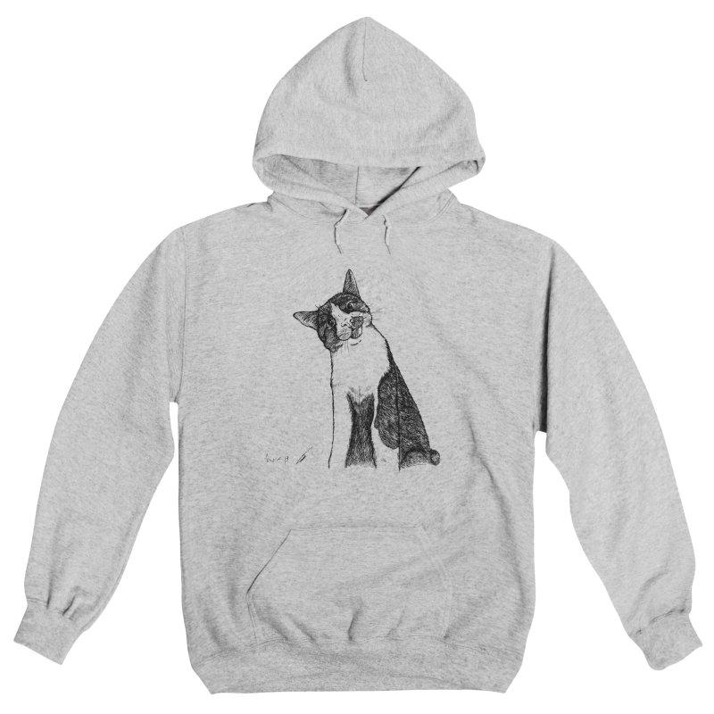 Cat Clear Women's Pullover Hoody by danmichaeli's Artist Shop