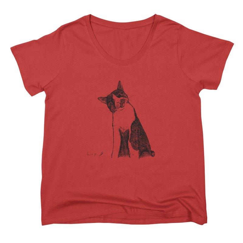 Cat Clear Women's Scoop Neck by danmichaeli's Artist Shop
