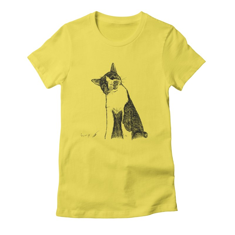 Cat Clear Women's T-Shirt by danmichaeli's Artist Shop