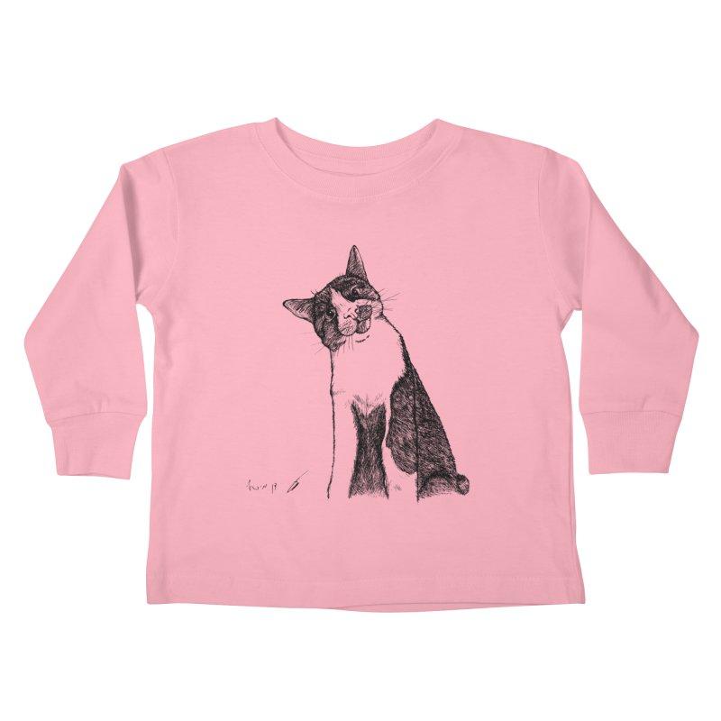 Cat Clear Kids Toddler Longsleeve T-Shirt by danmichaeli's Artist Shop