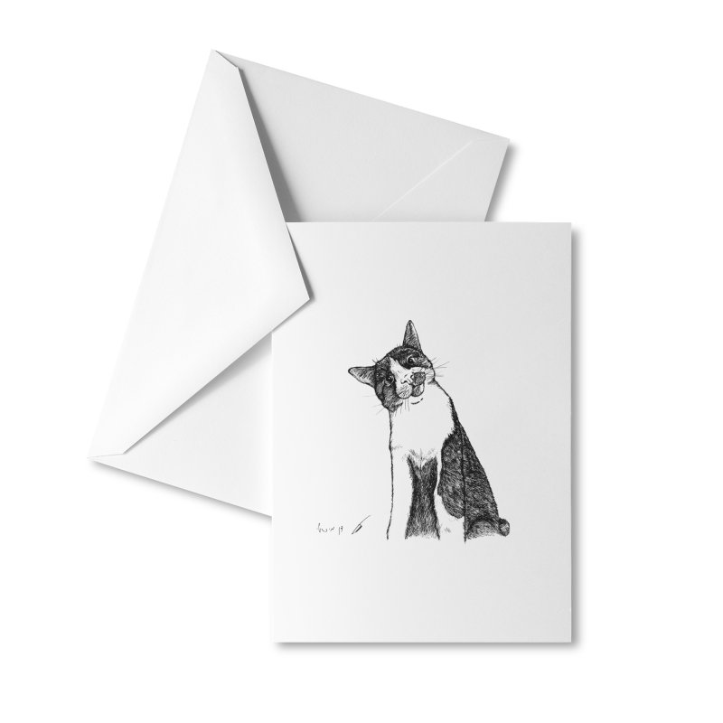 Cat Clear Accessories Greeting Card by danmichaeli's Artist Shop