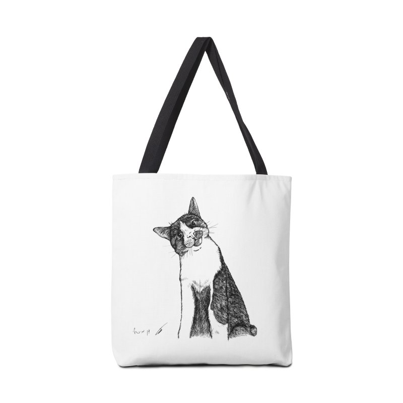 Cat Clear Accessories Bag by danmichaeli's Artist Shop