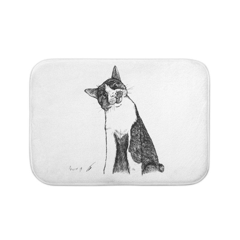 Cat Clear Home Bath Mat by danmichaeli's Artist Shop
