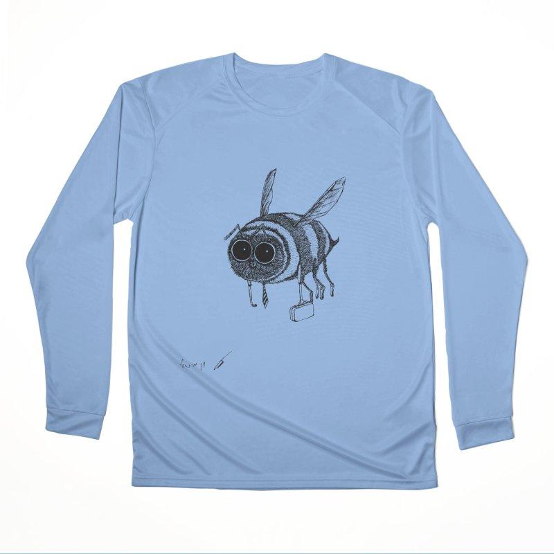 Busy bee gray Women's Longsleeve T-Shirt by danmichaeli's Artist Shop