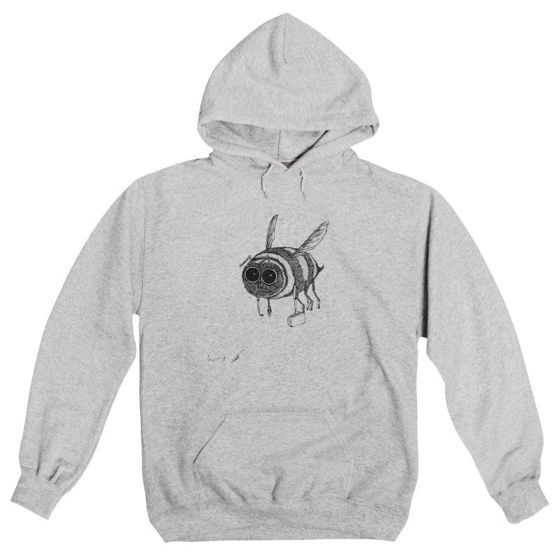 Busy bee gray Women's Pullover Hoody by danmichaeli's Artist Shop