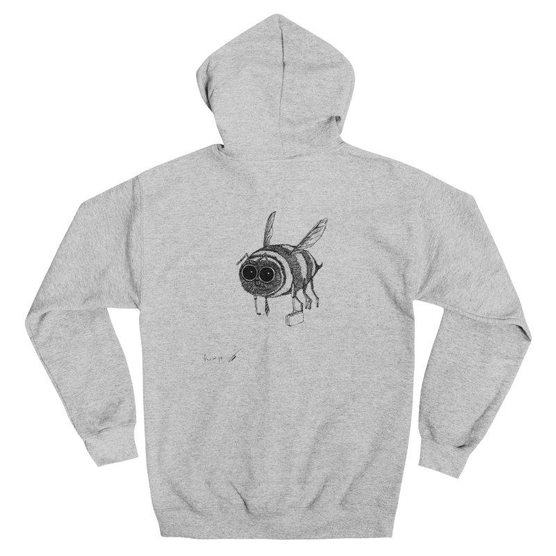 Busy bee gray Men's Zip-Up Hoody by danmichaeli's Artist Shop