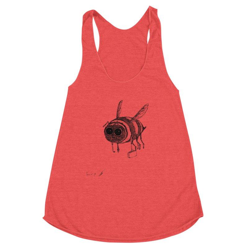 Busy bee gray Women's Tank by danmichaeli's Artist Shop