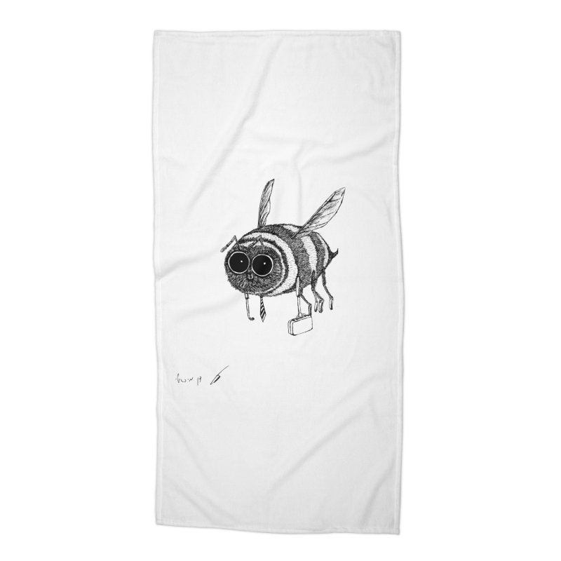 Busy bee gray Accessories Beach Towel by danmichaeli's Artist Shop