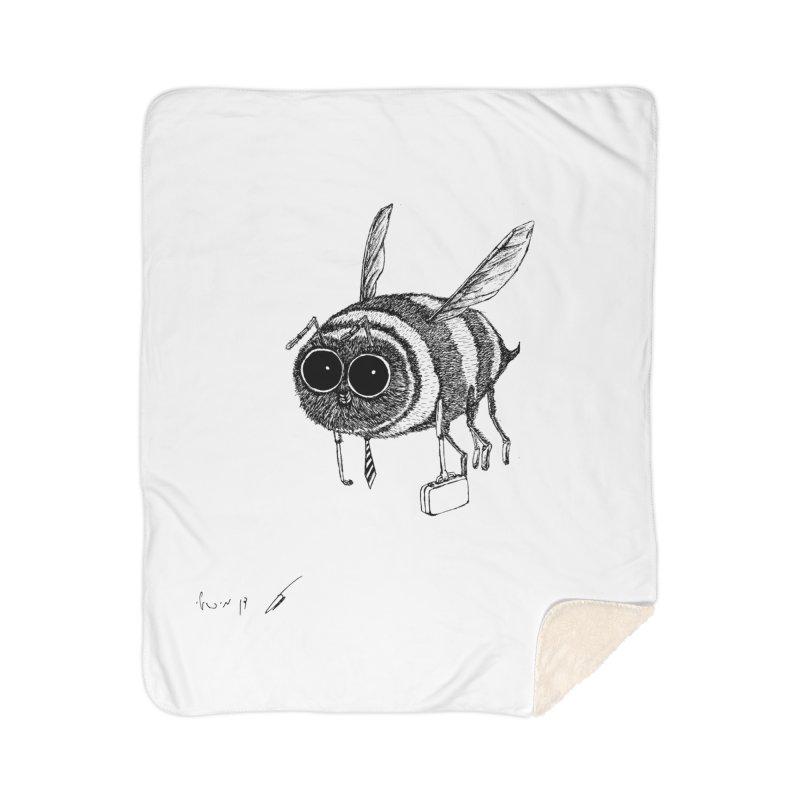 Busy bee gray Home Blanket by danmichaeli's Artist Shop