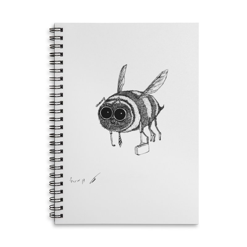 Busy bee gray Accessories Notebook by danmichaeli's Artist Shop