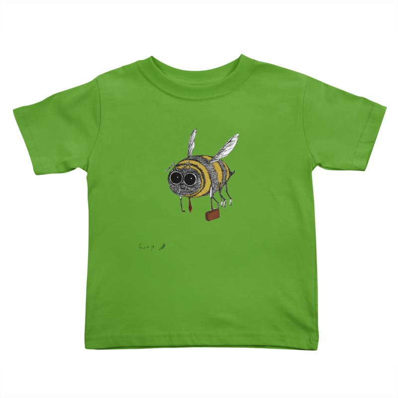 Busy bee colored Kids Toddler T-Shirt by danmichaeli's Artist Shop