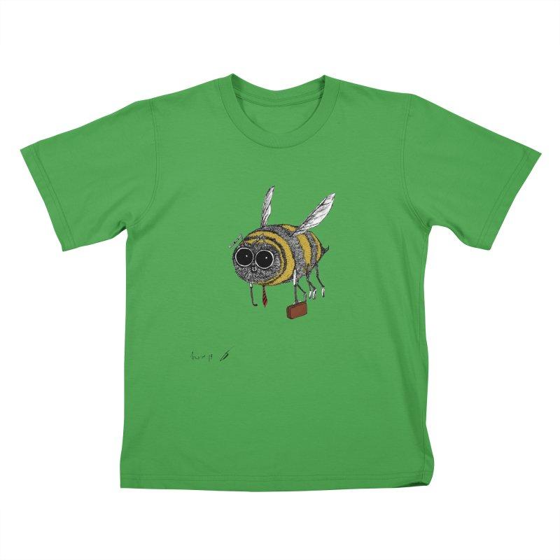Busy bee colored Kids T-Shirt by danmichaeli's Artist Shop