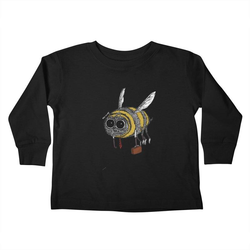 Busy bee colored Kids Toddler Longsleeve T-Shirt by danmichaeli's Artist Shop