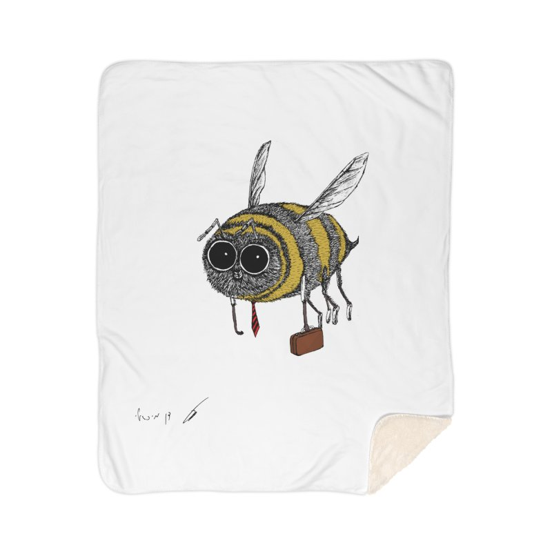 Busy bee colored Home Blanket by danmichaeli's Artist Shop