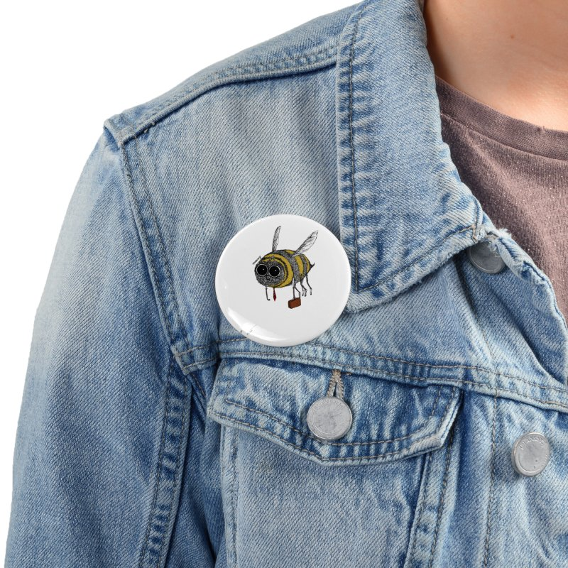 Busy bee colored Accessories Button by danmichaeli's Artist Shop