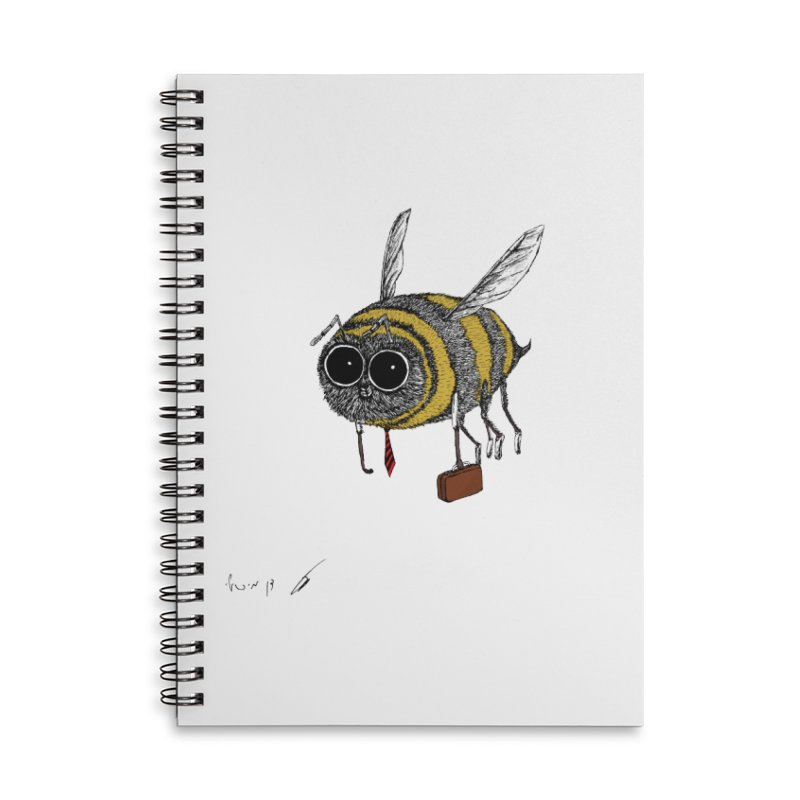 Busy bee colored Accessories Notebook by danmichaeli's Artist Shop