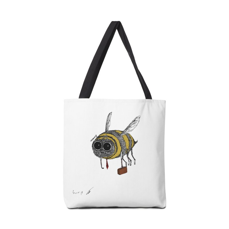 Busy bee colored Accessories Bag by danmichaeli's Artist Shop