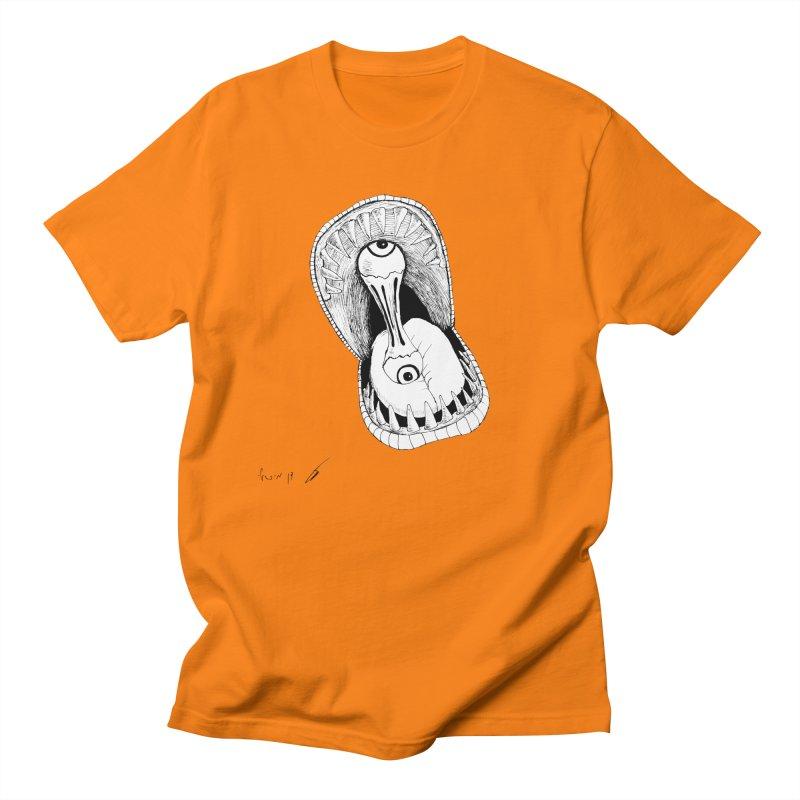 Monster eats ... :) Men's T-Shirt by danmichaeli's Artist Shop