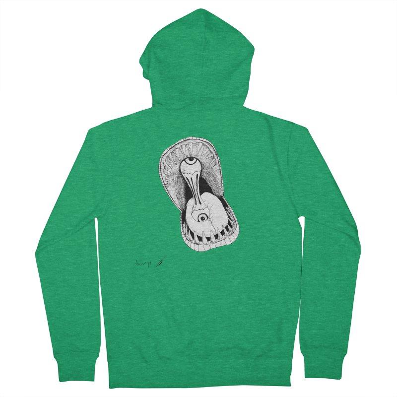 Monster eats ... :) Women's Zip-Up Hoody by danmichaeli's Artist Shop