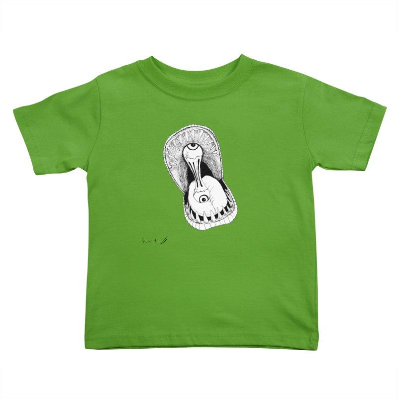 Monster eats ... :) Kids Toddler T-Shirt by danmichaeli's Artist Shop