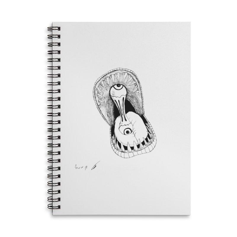 Monster eats ... :) Accessories Notebook by danmichaeli's Artist Shop