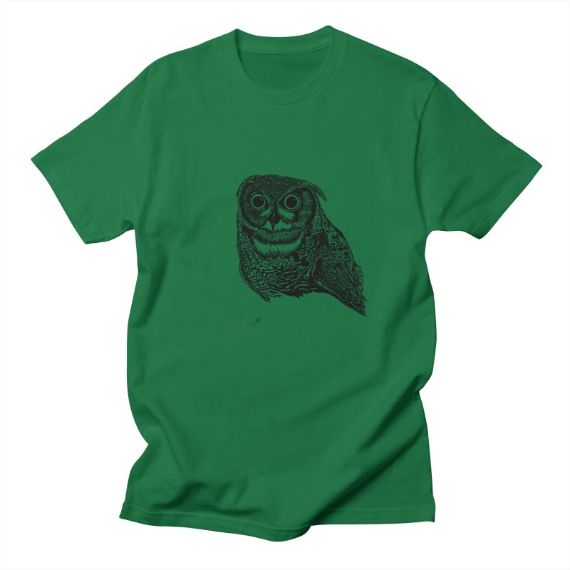 Owl Men's T-Shirt by danmichaeli's Artist Shop
