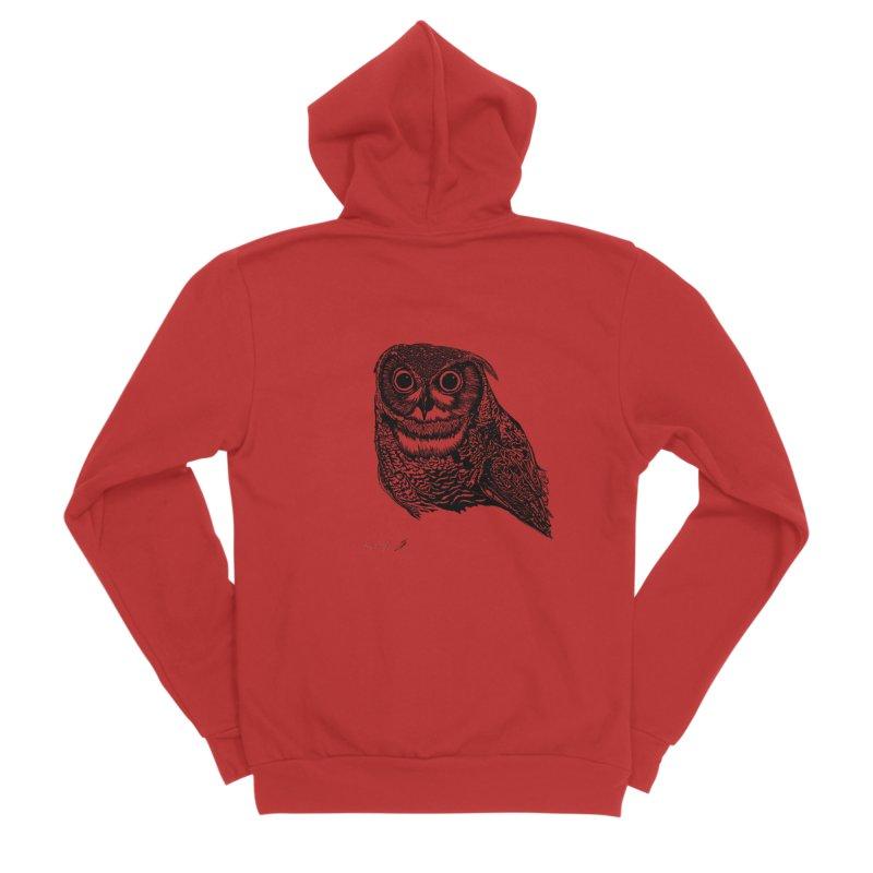 Owl Men's Zip-Up Hoody by danmichaeli's Artist Shop