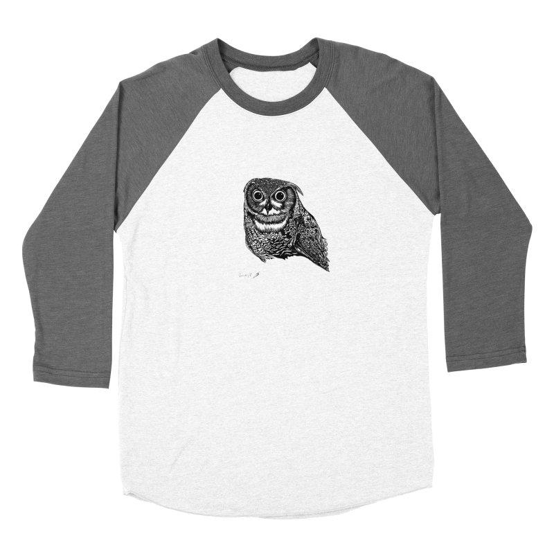 Owl Women's Longsleeve T-Shirt by danmichaeli's Artist Shop