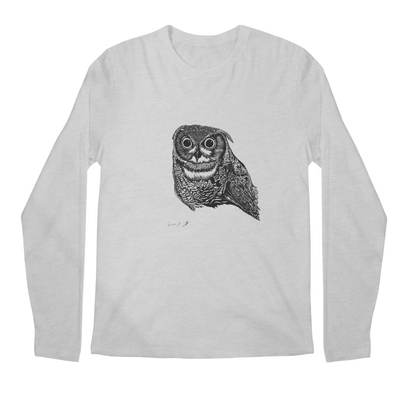 Owl Men's Longsleeve T-Shirt by danmichaeli's Artist Shop