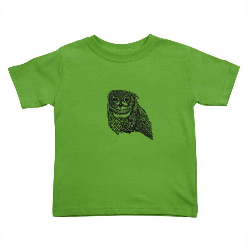 Owl Kids Toddler T-Shirt by danmichaeli's Artist Shop