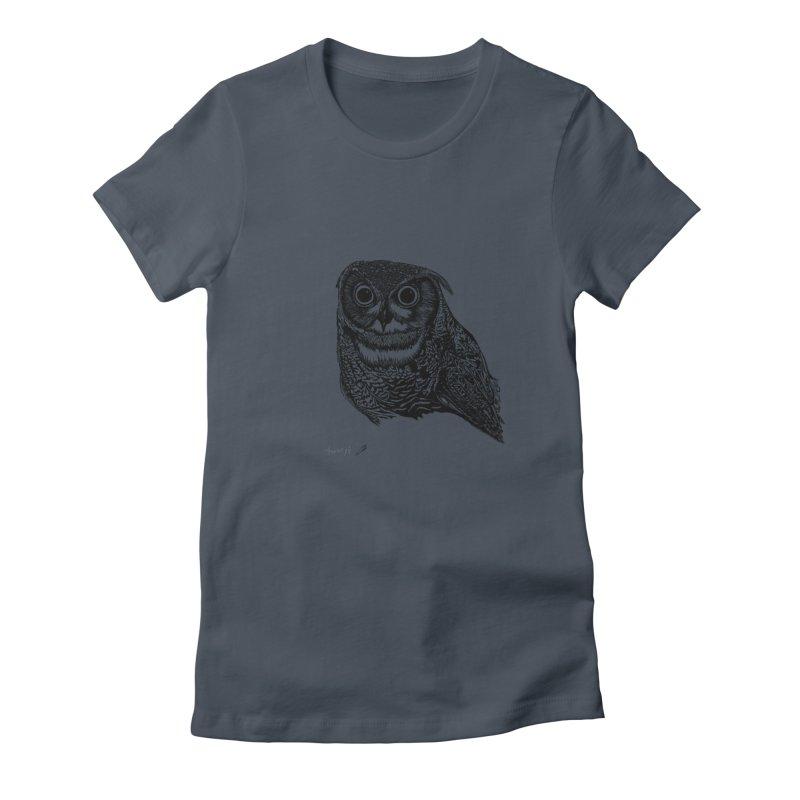 Owl Women's T-Shirt by danmichaeli's Artist Shop
