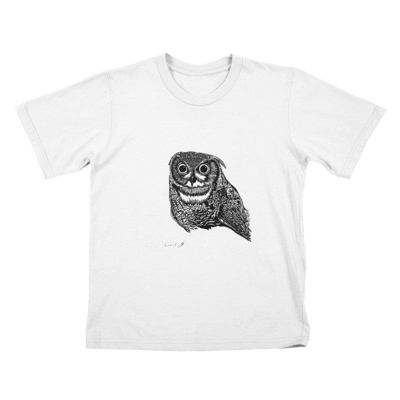 Owl Kids T-Shirt by danmichaeli's Artist Shop