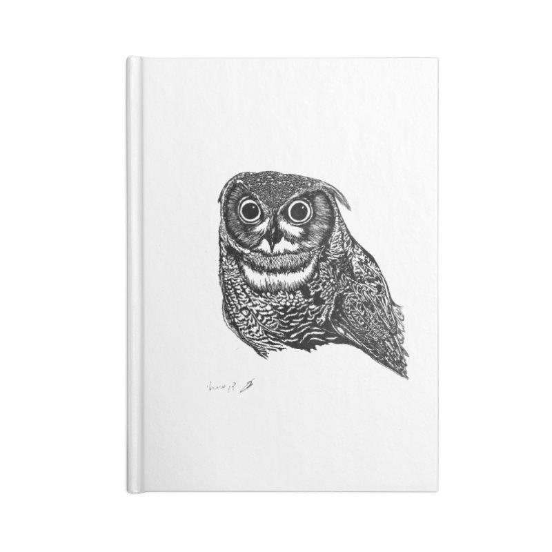 Owl Accessories Notebook by danmichaeli's Artist Shop