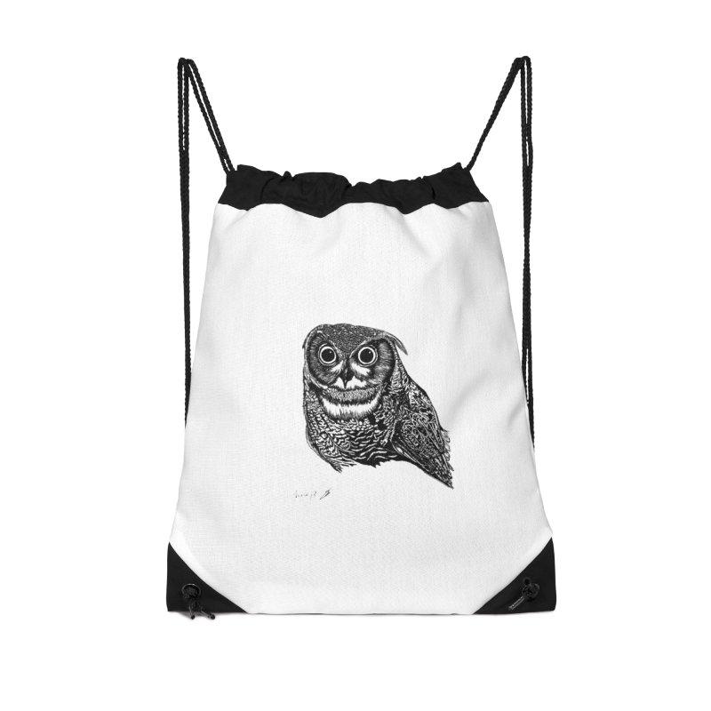 Owl Accessories Bag by danmichaeli's Artist Shop