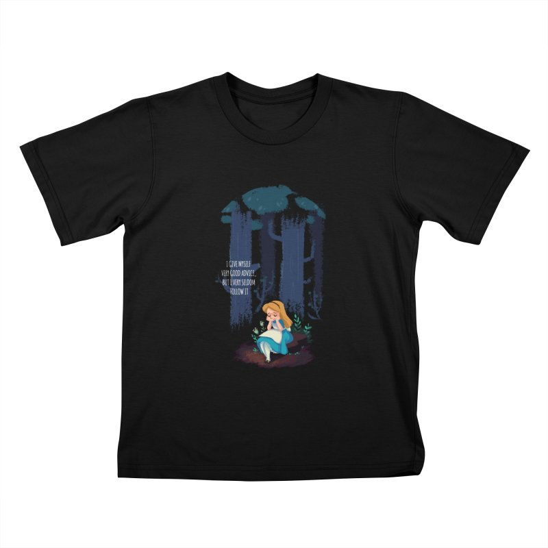 Alice's Advice Kids T-Shirt by dannisketch's Artist Shop