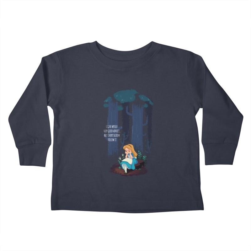 Alice's Advice Kids Toddler Longsleeve T-Shirt by dannisketch's Artist Shop