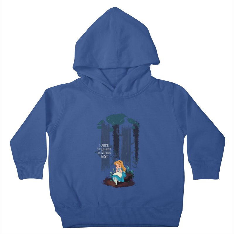 Alice's Advice Kids Toddler Pullover Hoody by dannisketch's Artist Shop