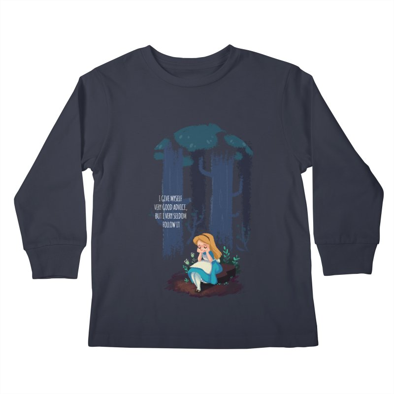 Alice's Advice Kids Longsleeve T-Shirt by dannisketch's Artist Shop