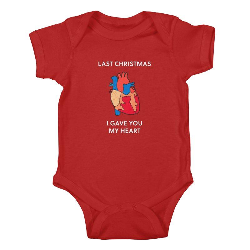 Last Christmas, I gave you my heart. Kids Baby Bodysuit by Dannomyte's Artist Shop