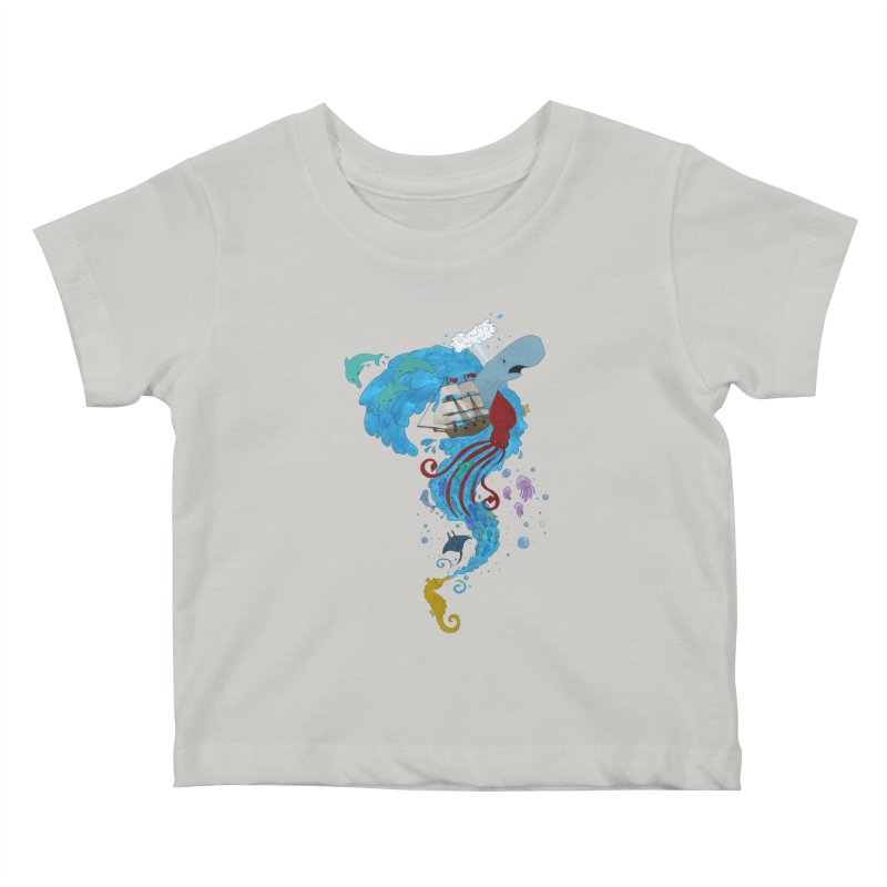 Seaside Kids Baby T-Shirt by Dannomyte's Artist Shop